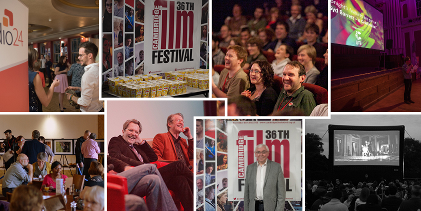 collage of images from the cambridge film festival