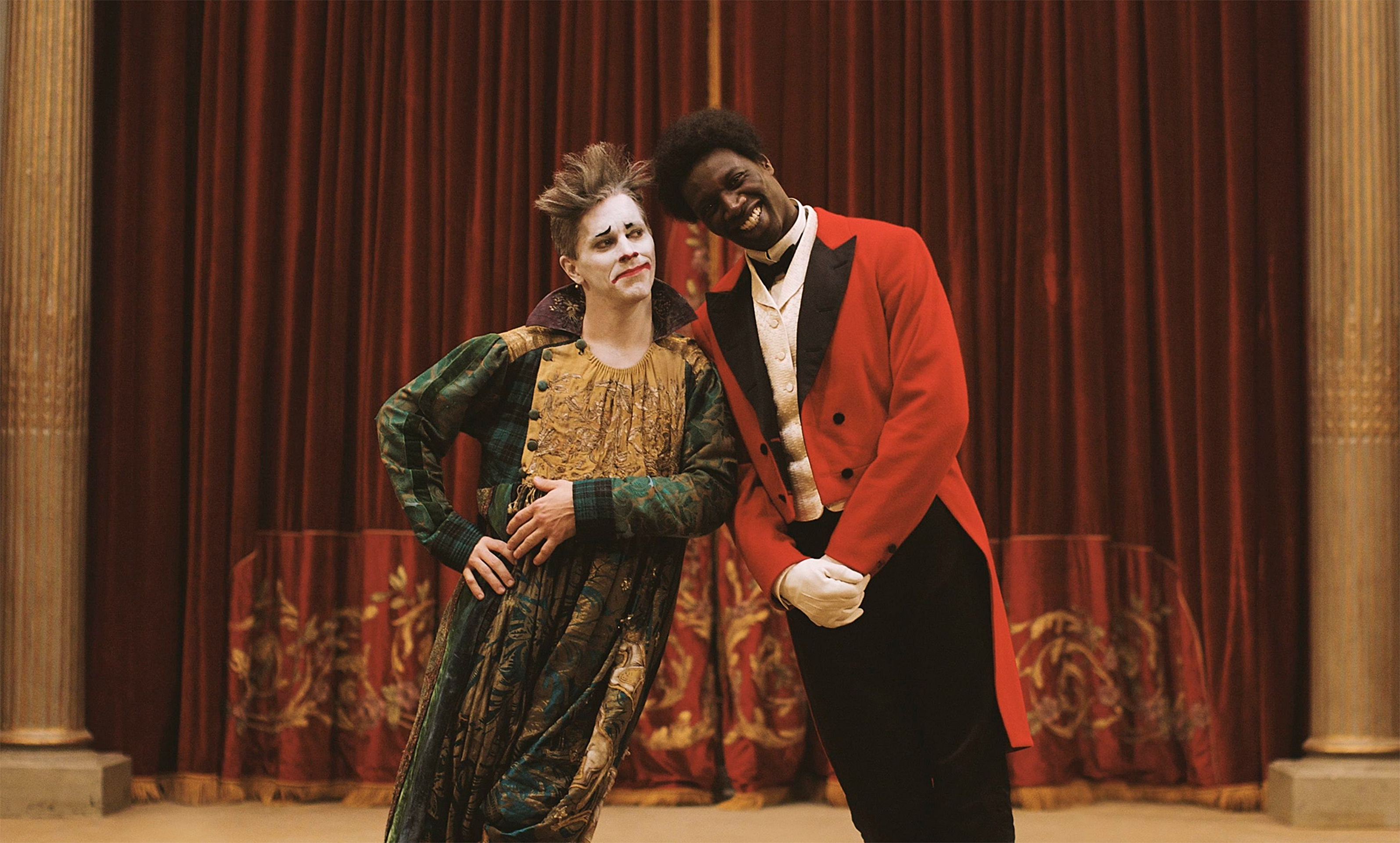 two victorian clowns from the film chocolat