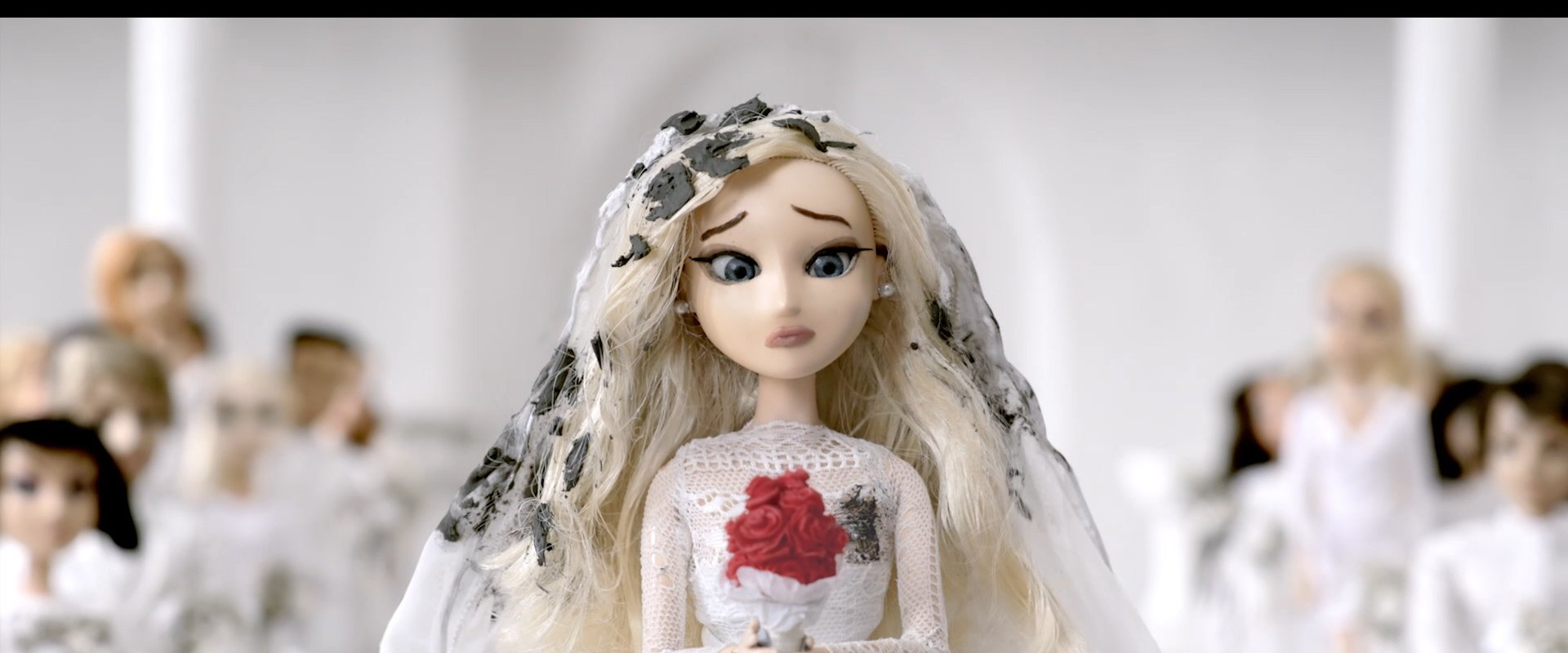 stop motion model of a bride