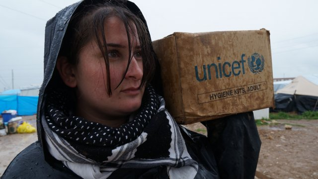 Girl with Unicef box