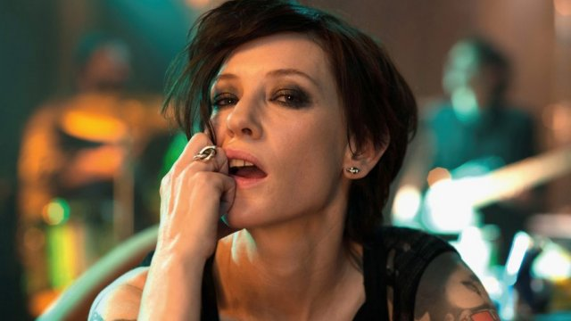 Cate Blanchett with short dark hair