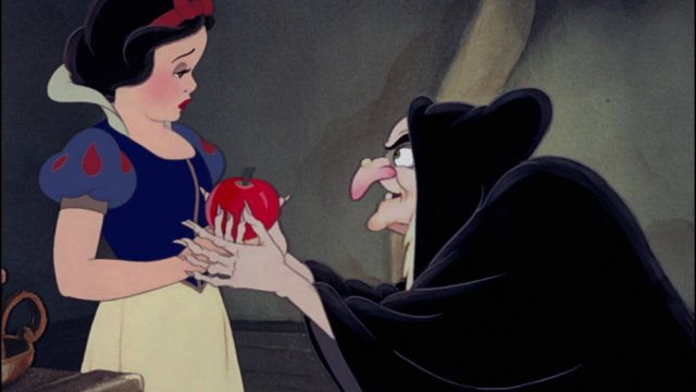 Snow White and the witch