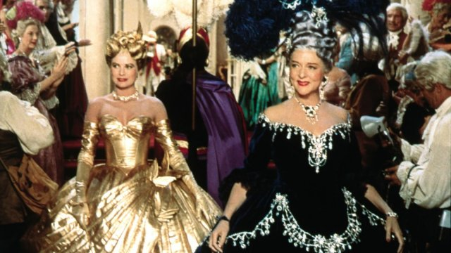 grace kelly with an older woman, both dressed in carnival attire